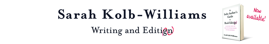 Sarah Kolb-Williams writing and editing